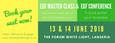 Bookings open for the Event Greening Forum's 2018 Conference & Master Class